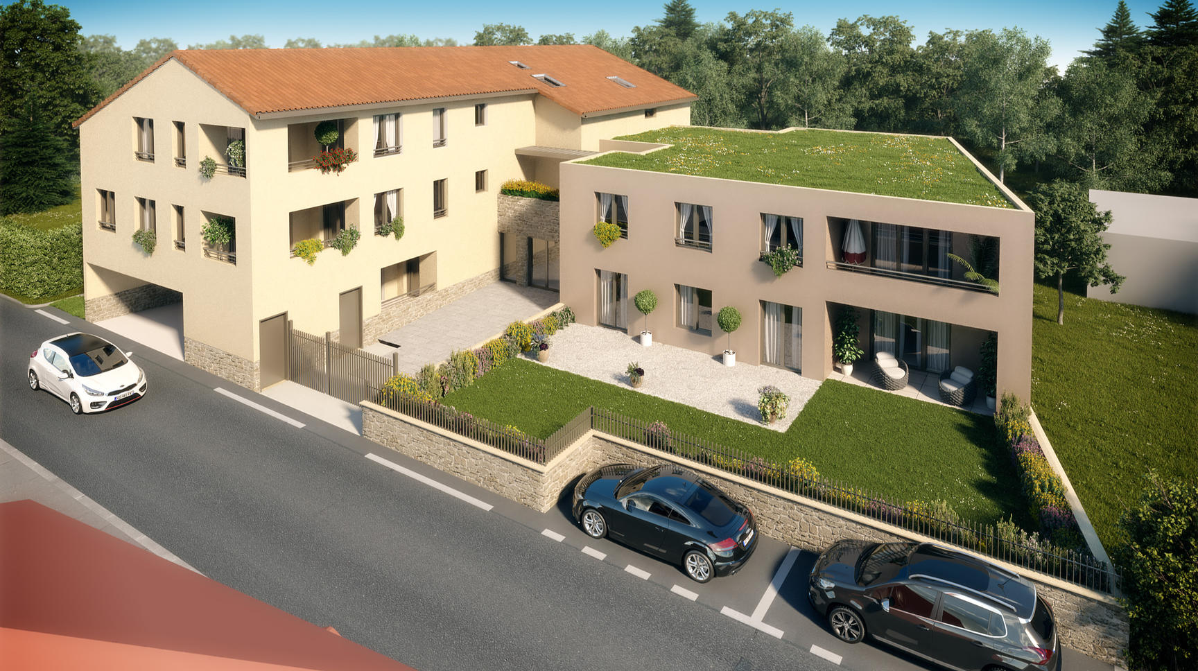 APPARTEMENT 71M2 NEUF CENTRE VILLAGE COTE OUEST - Dardilly