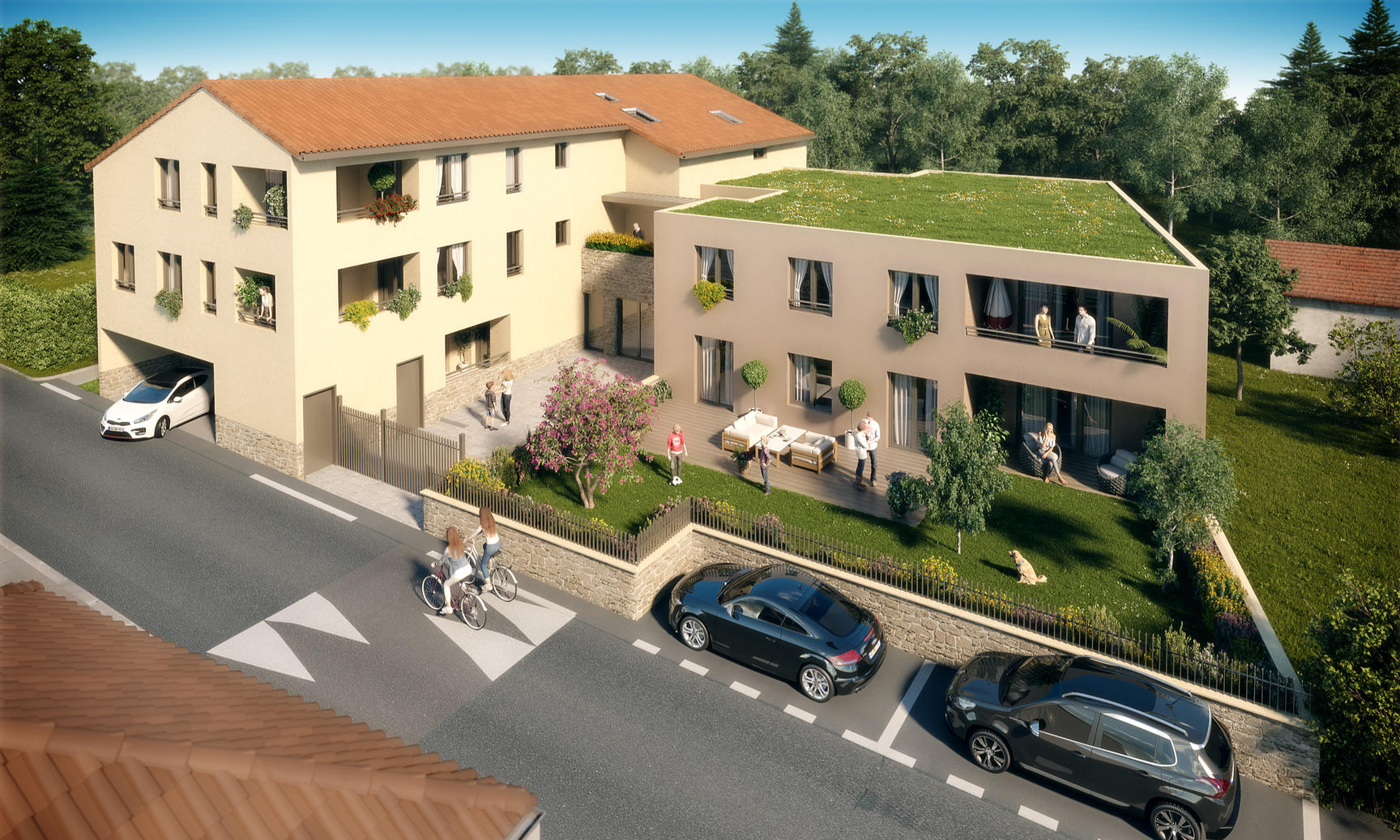 APPARTEMENT 61m2 NEUF CENTRE VILLAGE COTE OUEST - Dardilly