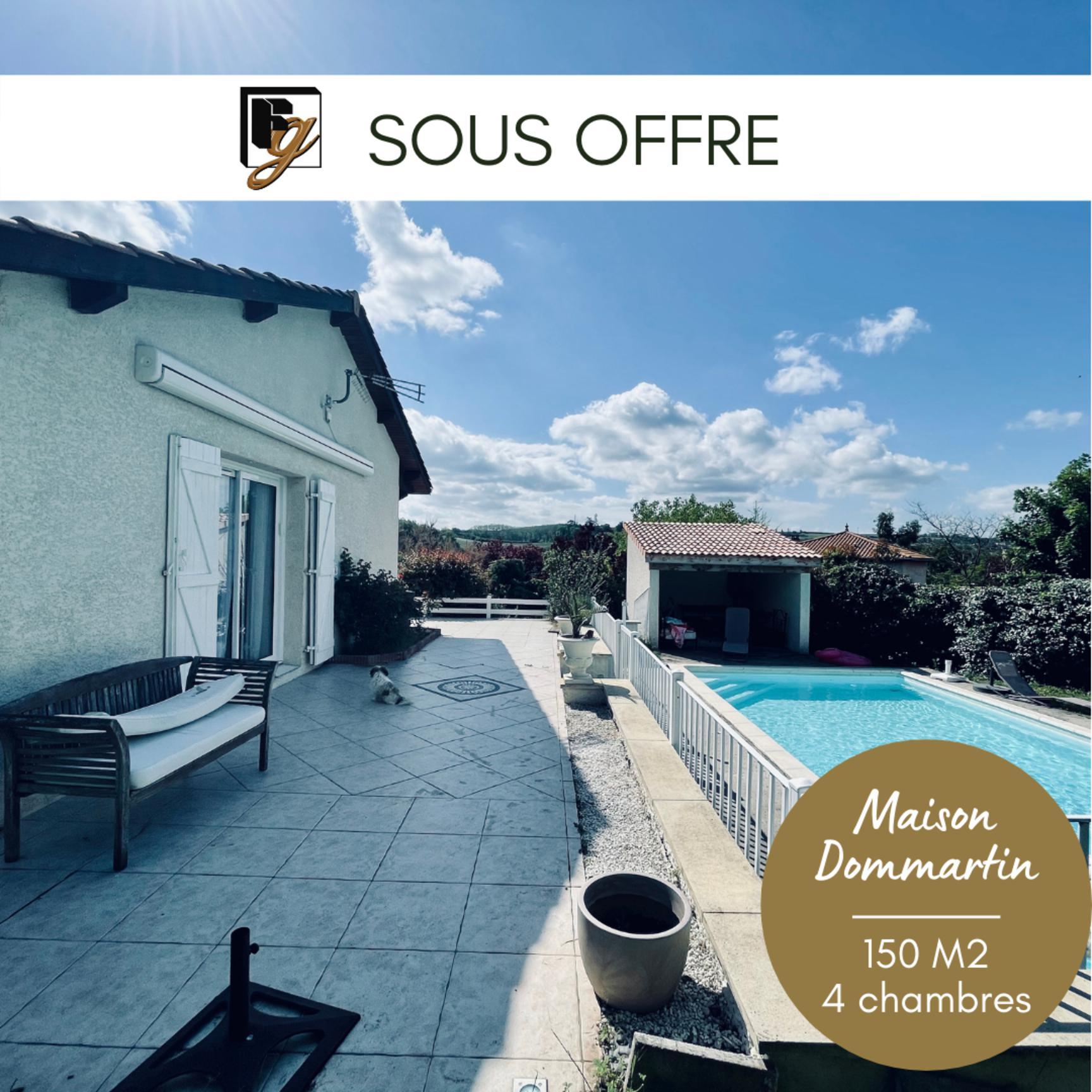 SOUS COMPROMIS // DOMMARTIN villa 150m2 4 chambres